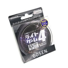 Gosen Saltwater Light Game 4 Braided Line 200m #0.4 pink