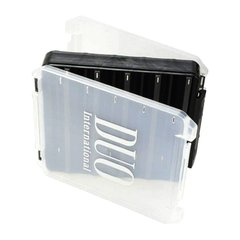 DUO Reversible lure case 160 pearl black/clear