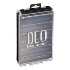 DUO Reversible lure case 180 pearl black/clear